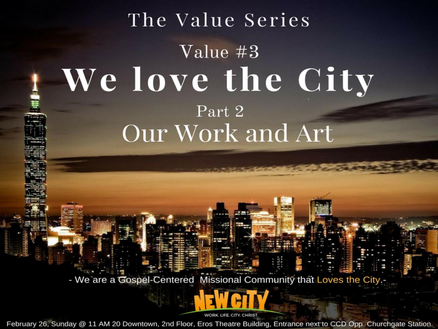 We love the City (Part 2) Image