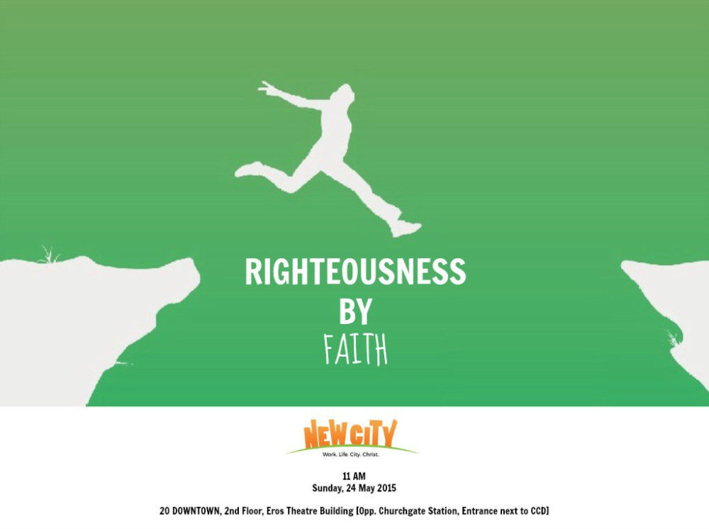 Righteousness by Faith - Ben Mathew Image