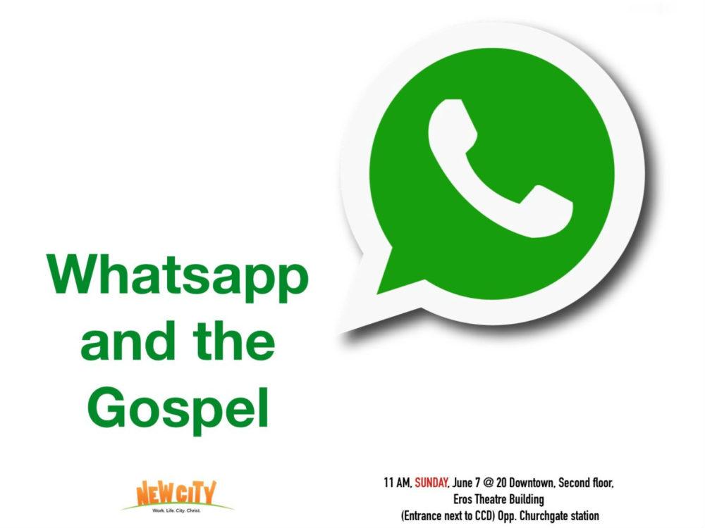 Whatsapp and the Gospel Image