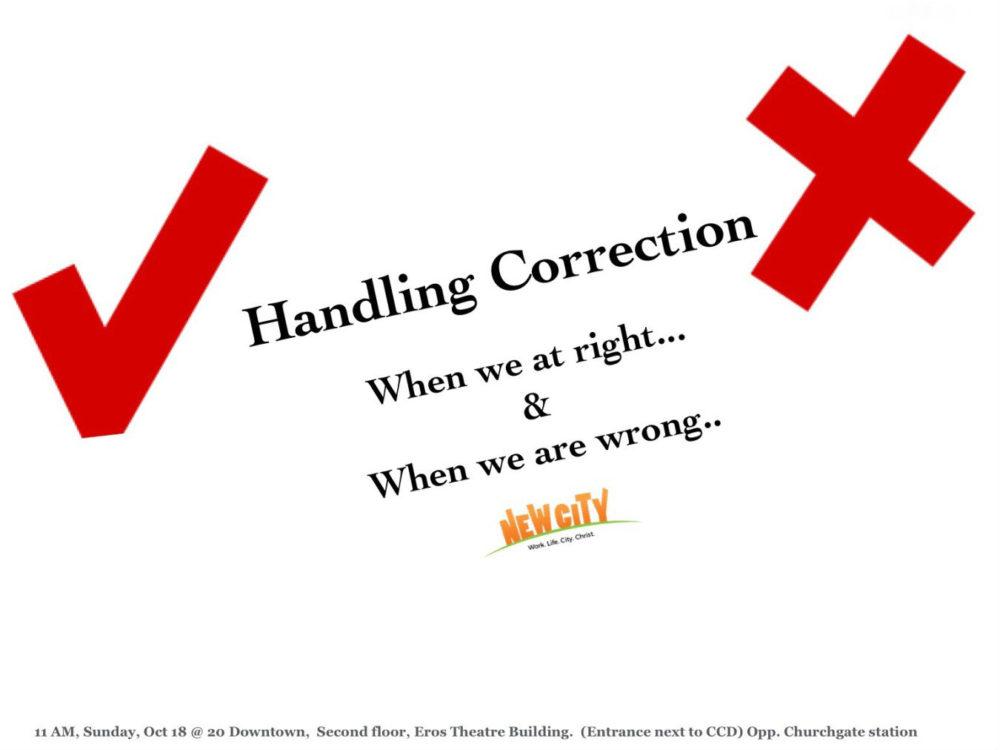 Handling Corrections - Cindrella Prakash Image