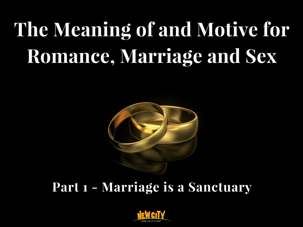 Marriage is a Sanctuary Image