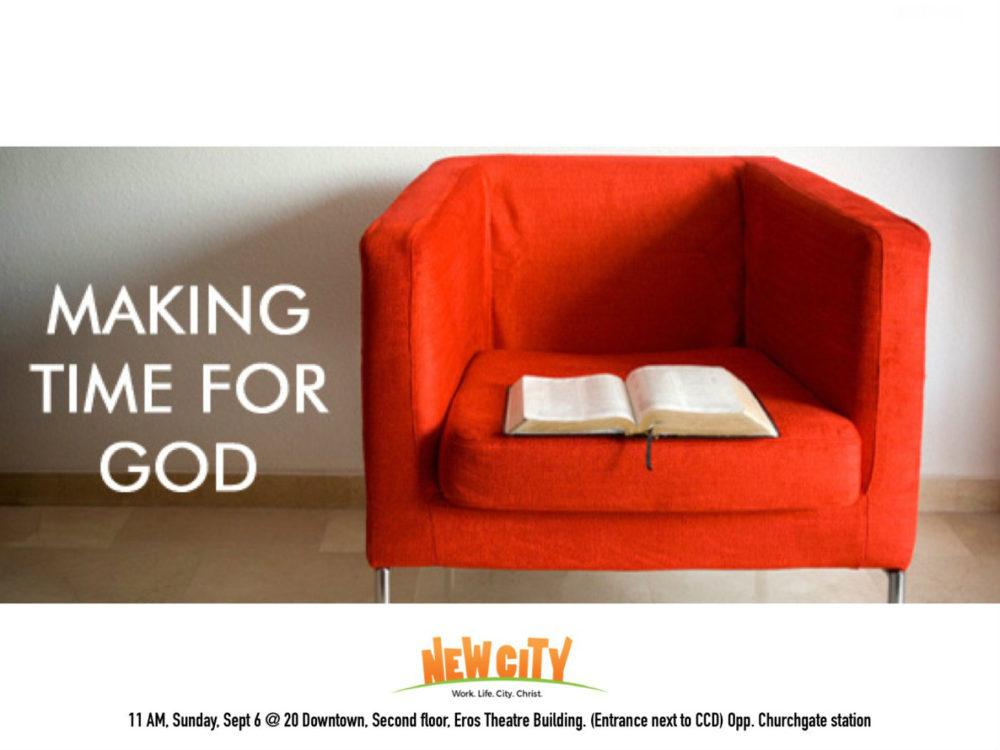 Making time for God - Ben Mathew Image