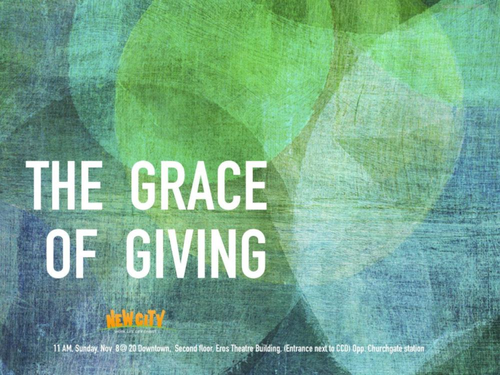 The Grace Of Giving - Joemon Joseph Image